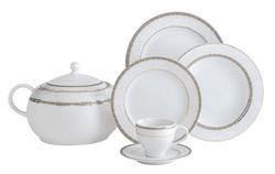 Güral Porselen - Yemek Takımı Güral Porselen <br> 84 Parça 12 Kişilik <br> Tolstoy Yuvarlak<br>TLS84YT9305084
