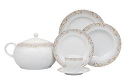 Güral Porselen - Yemek Takımı Güral Porselen <br> 84 Parça 12 Kişilik <br> Tolstoy Yuvarlak <br> TLS84YT9305590