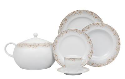 Yemek Takımı Güral Porselen <br> 84 Parça 12 Kişilik <br> Tolstoy Yuvarlak <br> TLS84YT9305590