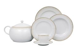 Güral Porselen - Yemek Takımı Güral Porselen <br> 84 Parça 12 Kişilik <br> Tolstoy Yuvarlak <br> TLS84YT9305614