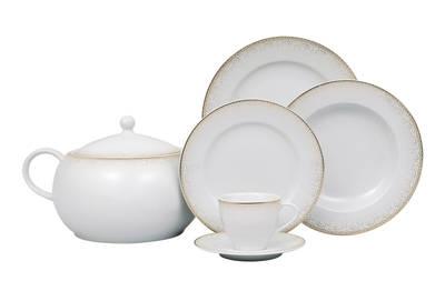 Yemek Takımı Güral Porselen <br> 84 Parça 12 Kişilik <br> Tolstoy Yuvarlak <br> TLS84YT9305614