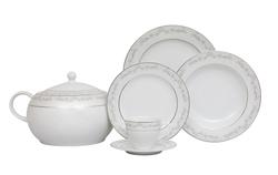 Güral Porselen - Yemek Takımı Güral Porselen <br> 84 Parça 12 Kişilik <br> Tolstoy Yuvarlak<br> TLS84YT9305706