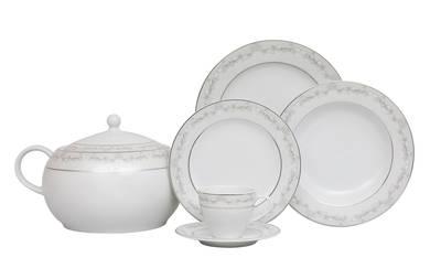 Yemek Takımı Güral Porselen <br> 84 Parça 12 Kişilik <br> Tolstoy Yuvarlak<br> TLS84YT9305706