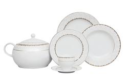 Güral Porselen - Yemek Takımı Güral Porselen <br> 84 Parça 12 Kişilik <br> Tolstoy Yuvarlak<br>TLS84YT9305708