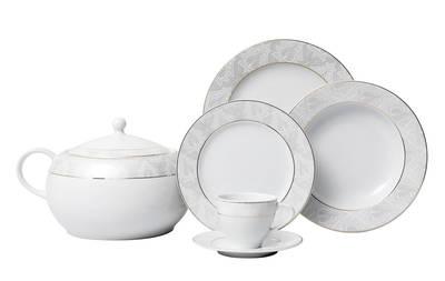 Yemek Takımı Güral Porselen <br> 84 Parça 12 Kişilik <br> Tolstoy Yuvarlak<br> TLS84YT9305713
