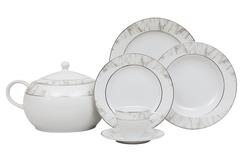 Güral Porselen - Yemek Takımı Güral Porselen <br> 84 Parça 12 Kişilik <br> Tolstoy Yuvarlak<br> TLS84YT9305717