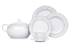 Güral Porselen - Yemek Takımı Güral Porselen <br> 84 Parça 12 Kişilik <br> Tolstoy Yuvarlak <br> TLS85YT9305719