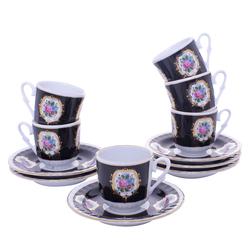 Güral Porselen - 12 Parça Karton Kutulu <br> Altılı Kahve FincanıTakımı ORNK801