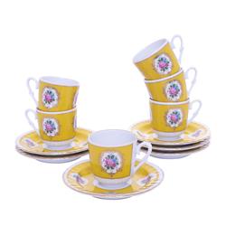 Güral Porselen - 12 Parça Karton Kutulu <br> Altılı Kahve FincanıTakımı ORNK802