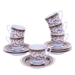 Güral Porselen - 12 Parça Karton Kutulu <br> Altılı Kahve FincanıTakımı ORNK806
