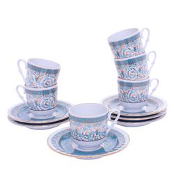 Güral Porselen - 12 Parça Karton Kutulu <br> Altılı Kahve FincanıTakımı ORNK807