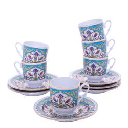 Güral Porselen - 12 Parça Karton Kutulu <br> Altılı Kahve FincanıTakımı ORNK811