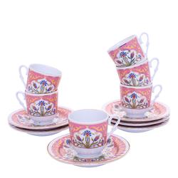 Güral Porselen - 12 Parça Karton Kutulu <br> Altılı Kahve FincanıTakımı ORNK812