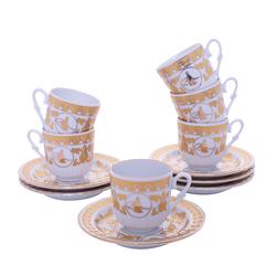 Güral Porselen - 12 Parça Karton Kutulu <br> Altılı Kahve Fincanı Takımı <br> ORNK825