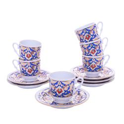Güral Porselen - 12 Parça Karton Kutulu <br> Altılı Kahve Fincanı Takımı <br> ORNK829