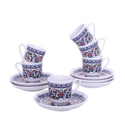 Güral Porselen - 12 Parça Karton Kutulu <br> Altılı Kahve Fincanı Takımı <br> ORNK831