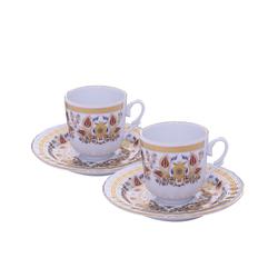 Güral Porselen - 2 li Karton Kutulu Kahve Fincan Takımı <br>ORN2817