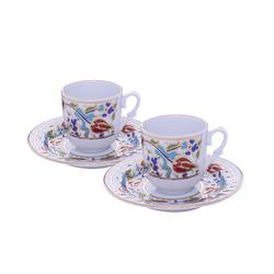 Güral Porselen - 2 li Karton Kutulu Kahve Fincan Takımı <br>ORN2820
