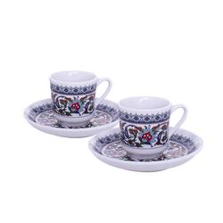 Güral Porselen - 2 li Karton Kutulu Kahve Fincan Takımı <br>ORN2830