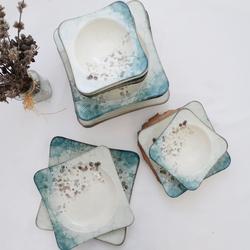 Güral Porselen - Güral Porselen 24 Parça Spinoza Kare Yemek Seti <br> GBSSPN24Y4R1341