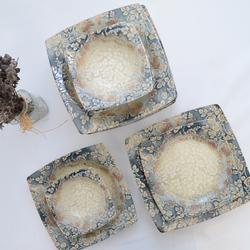 Güral Porselen - 24 Parça Kare Yemek Takımı <br> GRLDGTL02