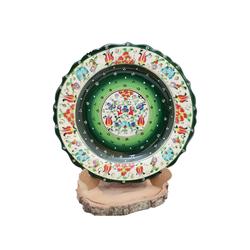 Güral Porselen - 30 cm El İşi Çini Tabak ORNCNT18