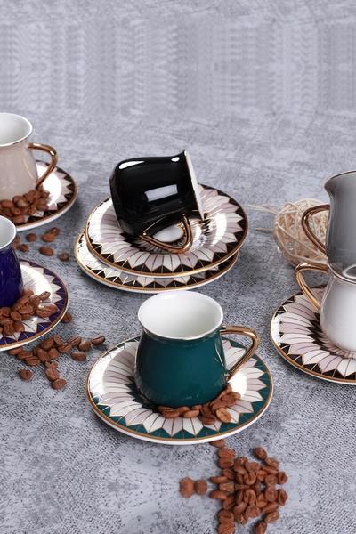 acar - 6 lı Kahve Fincan Takımı Athena