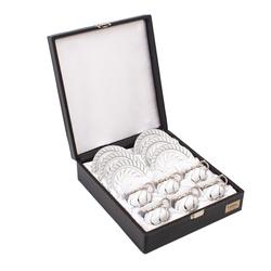 Güral Porselen - 6 lı Özel Seri Kahve Fincan Takımı <br> 8Q0A3500
