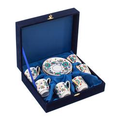 Güral Porselen - 6 lı Özel Seri Kahve Fincan Takımı <br> 8Q0A3524