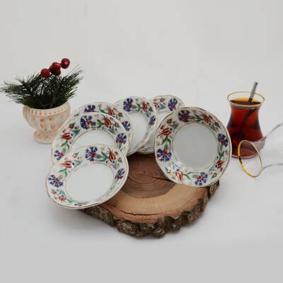 6'lı Porselen Çay Tabağı PKCT01