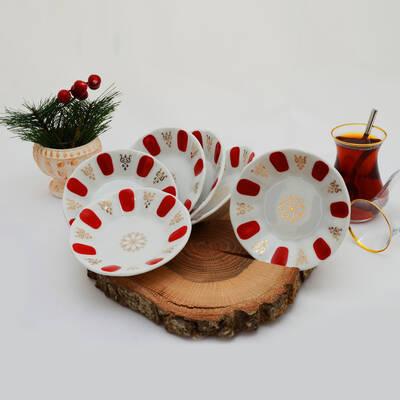 6'lı Porselen Çay Tabağı PKCT02