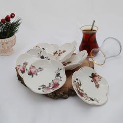 İpek - 6'lı Porselen Çay Tabağı PKCT03