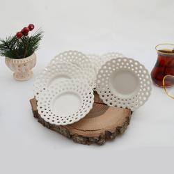 İpek - 6'lı Porselen Çay Tabağı PKCT04