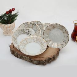 İpek - 6'lı Porselen Çay Tabağı PKCT05