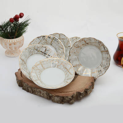 6'lı Porselen Çay Tabağı PKCT05