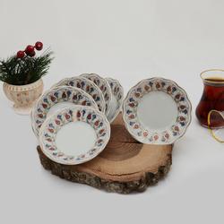 İpek - 6'lı Porselen Çay Tabağı PKCT09