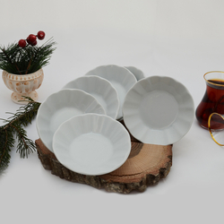 İpek - 6'lı Porselen Çay Tabağı PKCT10