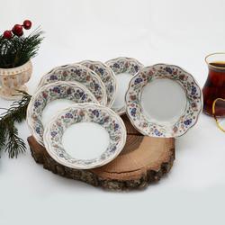 İpek - 6'lı Porselen Çay Tabağı PKCT11