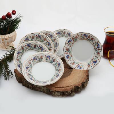 6'lı Porselen Çay Tabağı PKCT11