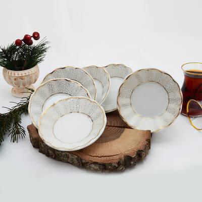 6'lı Porselen Çay Tabağı PKCT12