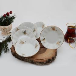 İpek - 6'lı Porselen Çay Tabağı PKCT13