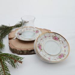 İpek - 6'lı Porselen Çay Tabağı PKCT15