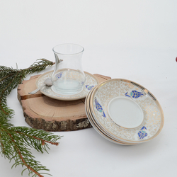 İpek - 6'lı Porselen Çay Tabağı PKCT16