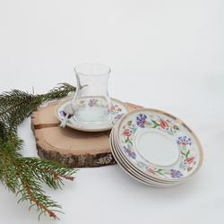 İpek - 6'lı Porselen Çay Tabağı PKCT17
