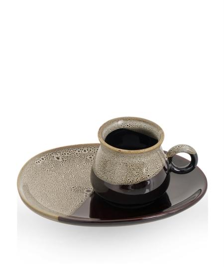 Acar Home - 6'Lı Porselen Kahve Fincan Takımı Kahve<br> SYT-010928