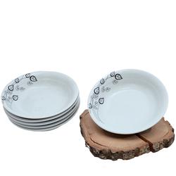 Güral Porselen - 6'lı Porselen Yemek Tabağı Küçük Boy <br> ORN6KS03