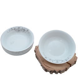 Güral Porselen - 6'lı Porselen Yemek Tabagi Kücük Boy <br> ORN6KS02