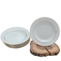 Güral Porselen - 6'lı Porselen Yemek Tabağı Küçük Boy 19 cm <br> ORN6YMK06
