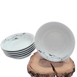 Güral Porselen - 6'lı Porselen Yemek Tabağı Küçük Boy <br> ORN6KS09