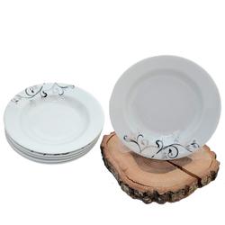 Güral Porselen - 6'lı Yemek Tabağı Küçük Boy 19 cm <br> ORN6YMK02